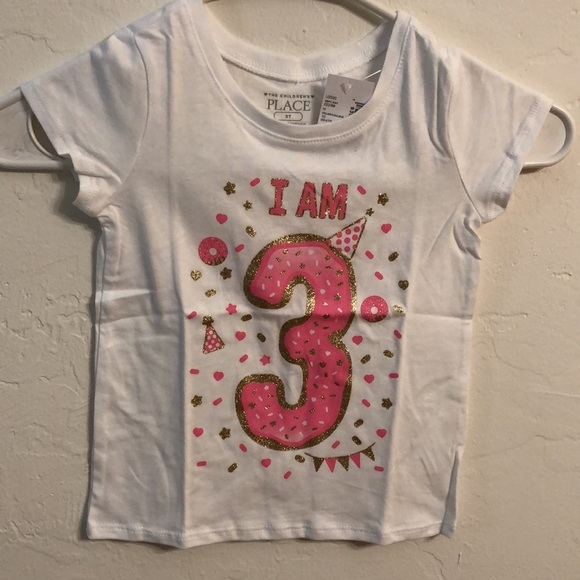 """The Children's Place girls top""""I am 3"""" NWT 3T"""